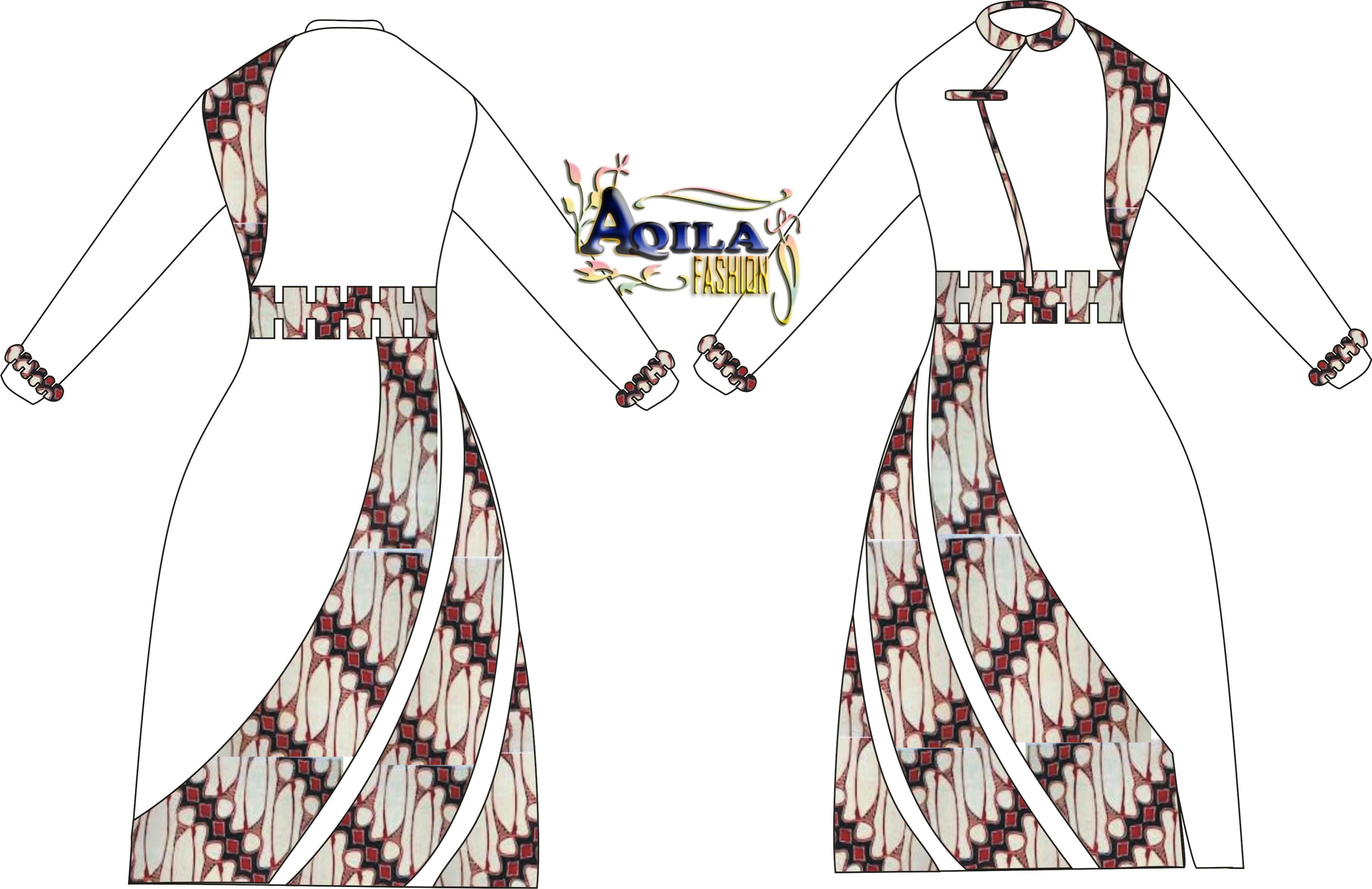 Desain Gamis Batik Modern  BATIK  ANEKA batik  BAJU batik