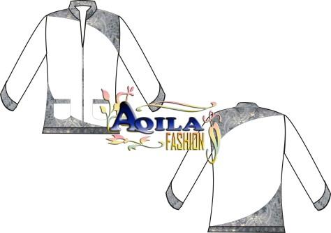 Baju Muslim / Koko Batik, Kode : KK5, Warna Putih kombinasi batik dengan gaya elegan, nyaman dipakai, menambah kekhusyukan ibadah anda, luwes, tersedia berbagai ukuran, berbagai warna, dan tentunya batik modern, DESAIN TERBATAS!!!, informasi hubungi : 085742125550, www.kaosbatikpekalongan.wordpress.com, email : ian_qyu@yahoo.co.id.