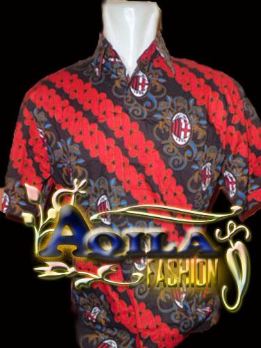 Baju Batik Bola AC Milan, Murah, Bergaya, dan Elegan untuk anda Pakai, Ukuran M & L Harga Rp. 60.000/ pcs, untuk pemesanan hubungi : +6285742125550 (IM3), http://www.kaosbatikpekalongan.wordprerss.com