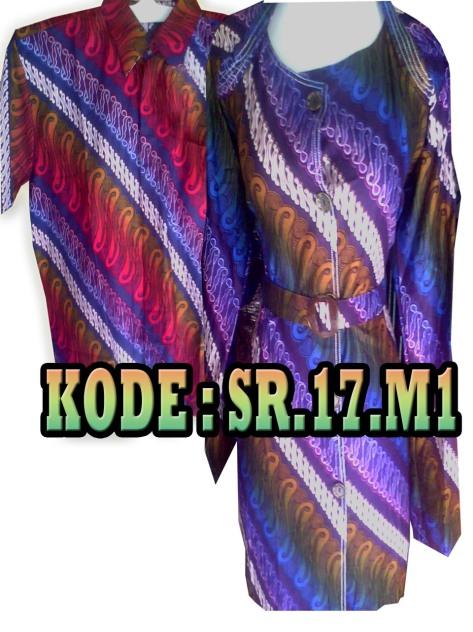 SR.17.M1, Batik Sarimbit, Bahan tidak Panas, harga Rp. 90.000/pasang, Rp. 1.800.000/kodi, informasi hubungi : 085742125550 (IM3),https://kaosbatikpekalongan.wordpress.com.