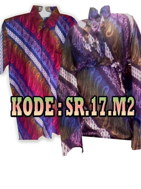 SR.17.M2, Batik Sarimbit, Bahan tidak Panas, harga Rp. 90.000/pasang, Rp. 1.800.000/kodi, informasi hubungi : 085742125550 (IM3),https://kaosbatikpekalongan.wordpress.com.