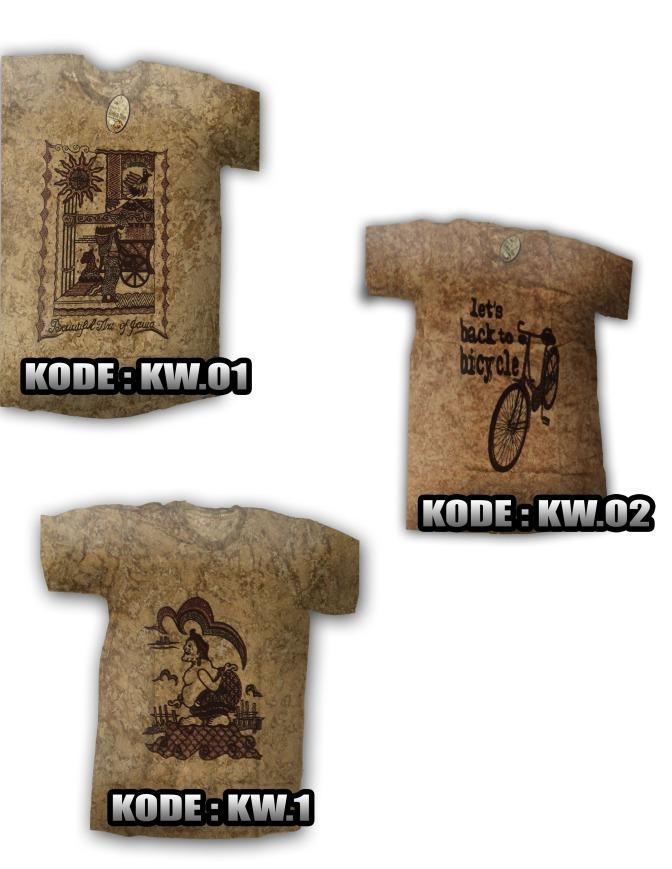 kaos batik Wayang, Kode : KW.1, KW.O1, KW.O2, harga Rp. 35.000/ pcs, Rp. 33.000/kodi, sangat menawan dipakai, nyaman, kain tidak panas, informasi hubungi : 085742125550 (IM3), https://kaosbatikpekalongan.wordpress.com/
