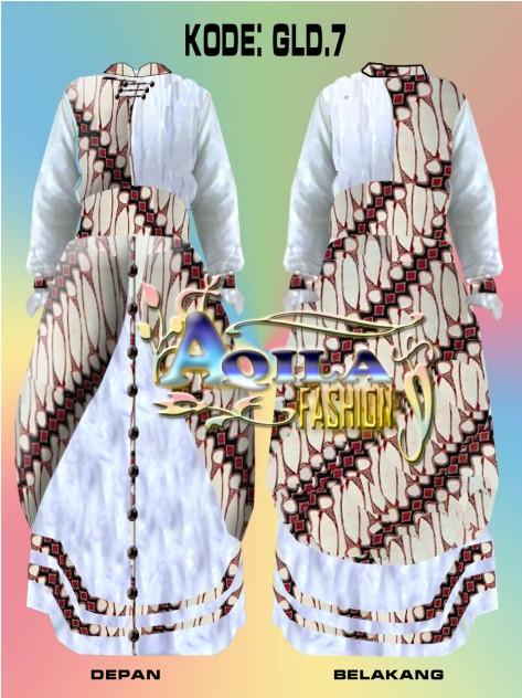 Batik Gamis Kombinasi, kode : GLD.7-Batik Parang kombinasi kain doby katun dengan pernak-pernik cantik cocok dipakai anda dalam segala suasana dan acara-minat hubungi : 085742125550-www.kaosbatikpekalongan.wordpress.com