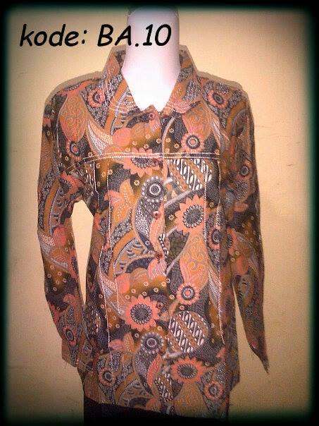 Blouse Batik Atasan kerah,kode: BA.10,bahan katun,ukuran: Allsize M,L,XL Harga Special Rp.45.000,DISKON! Untuk pembelian min.5 pcs. http://batikaqila.com/