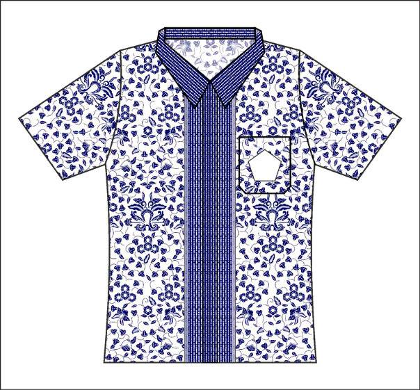 Contoh Baju Seragam Batik Sekolah: Seragam Batik Sekolah Motif Bunga